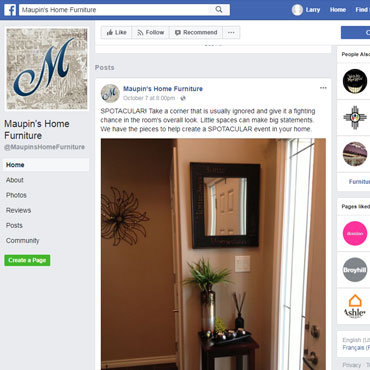 Maupin's Home Furniture Facebook